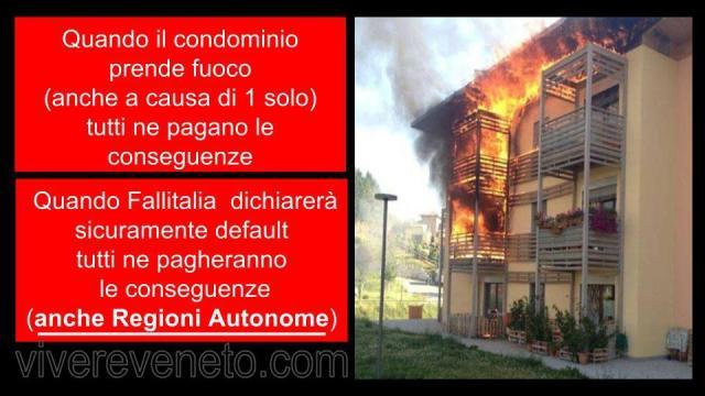 condominio a fuoco