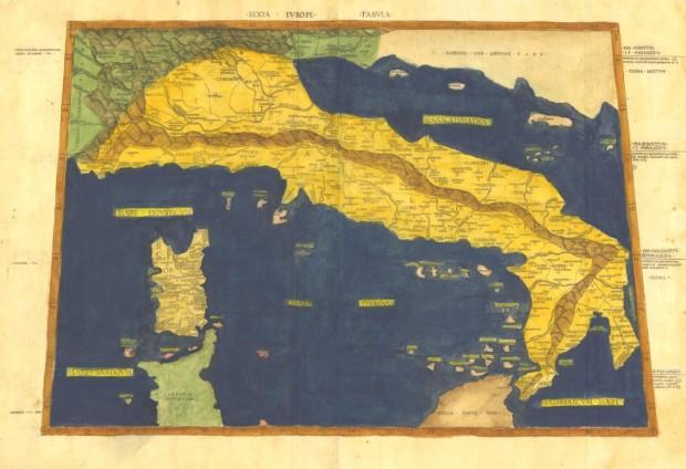 itaglia cartina