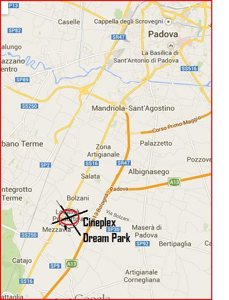 Leone Vetro Padova cartina