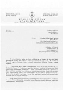 Lettera di Loris Mazzorato