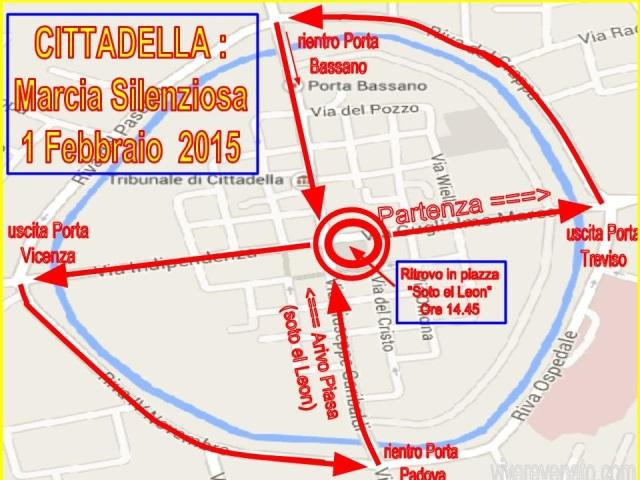 percorso Marcia Silenziosa Cittadella