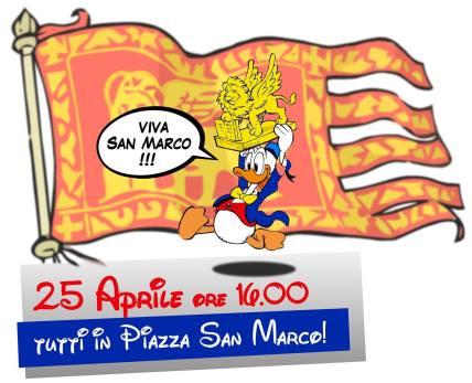 Anche Paperino il 25 aprile a San Marco