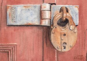 red-door-and-old-lock-ken-powers